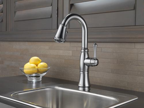 Delta Cassidy One Handle Pull Down Venetian Bronze Bar Prep Kitchen Faucet At Menards