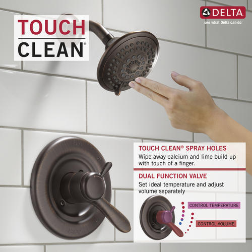 Delta Lahara One Handle 1 Spray Shower Faucet Trim Only At Menards