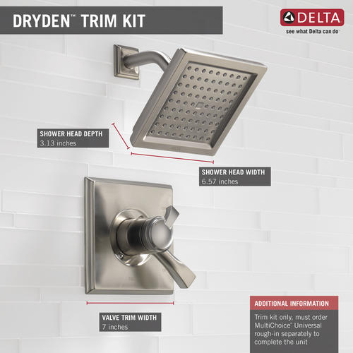 Delta® Dryden™ One Handle 1 Spray Shower Faucet At Menards®