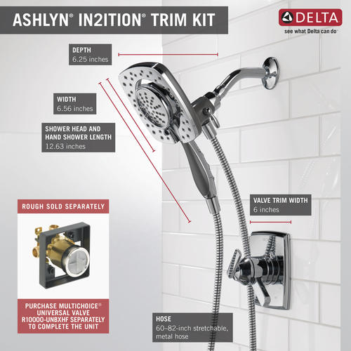 Delta Ashlyn In2ition One Handle 5 Spray Shower Faucet