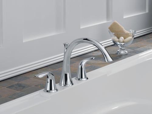 Delta® Lahara® Two-Handle Roman Tub Trim Kit with Valve
