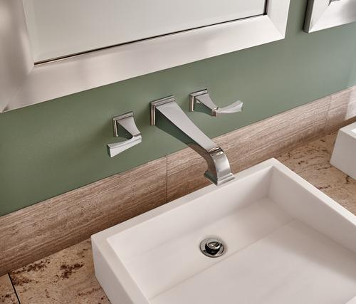 Genial Delta® Dryden™ Two Handle Wall Mount Bathroom Faucet TRIM ONLY In Chrome