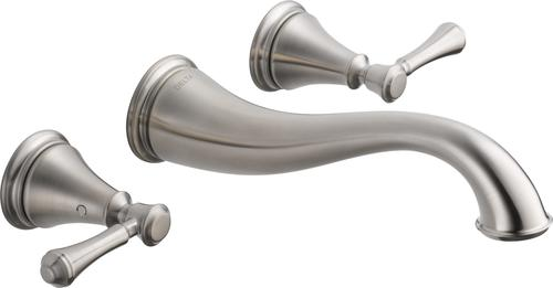 Attrayant Delta® Cassidy™ Two Handle Wall Mount Bathroom Faucet TRIM ONLY In Brushed  Nickel
