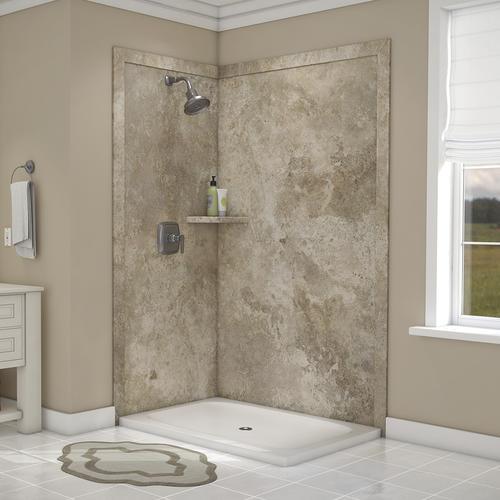 "flexstone elegance 48"" x 36"" shower wall surround at menards®"