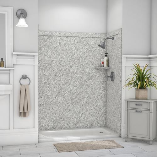 "flexstone adaptable 60"" x 60"" shower wall surround at menards®"