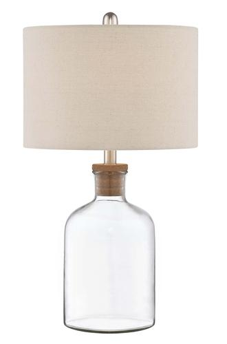 patriot lighting carrie h fillable clear glass table lamp at menards