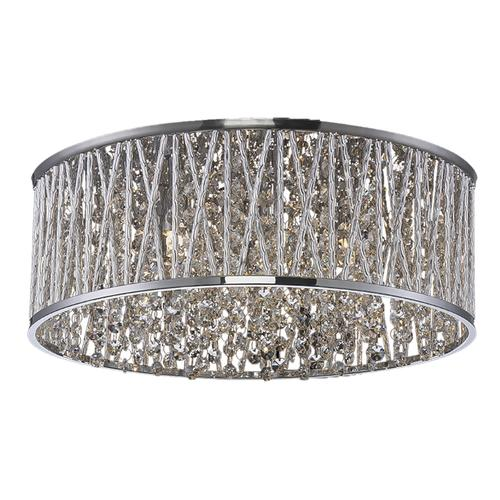 Patriot Lighting Elegant Home Carolyn Chrome 6 Light Flush Mount Ceiling Light At Menards