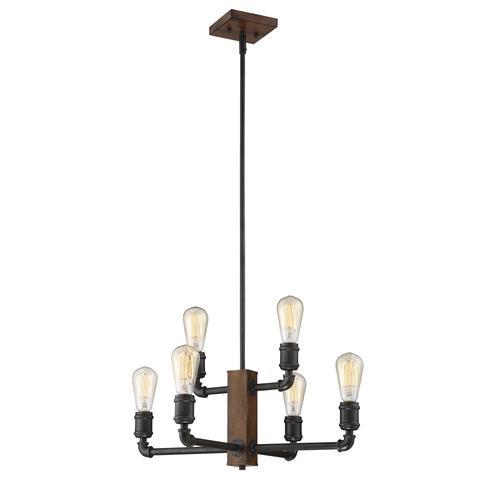 Patriot Lighting® Elegant Home 6-Light Steele Chandelier
