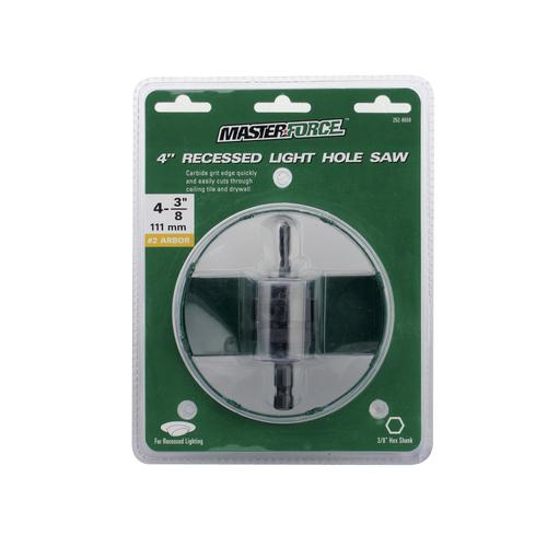 Masterforce 4 recessed light hole saw with 38 arbor at menards mozeypictures Choice Image