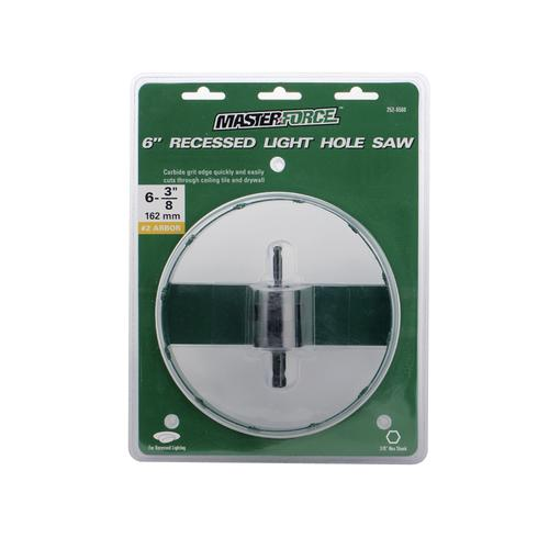 Masterforce 6 recessed light hole saw with 38 arbor at menards mozeypictures Choice Image