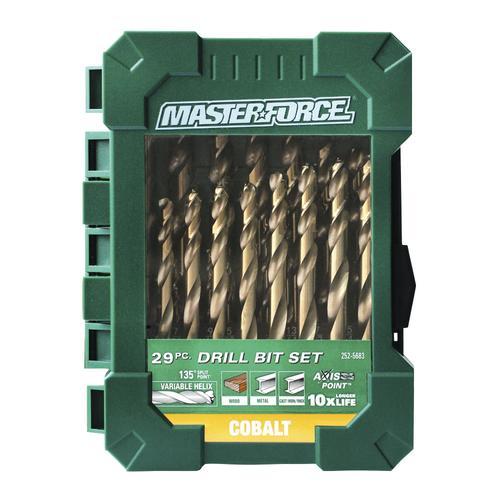 Masterforce cobalt twist drill bit 29 pack at menards keyboard keysfo Gallery