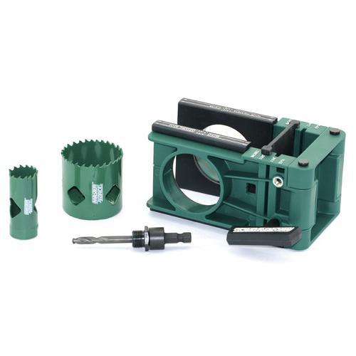 Door Lock Installation Kit Wood Metal Deadbolt Lockset Guide Hole Saw Drill Bit