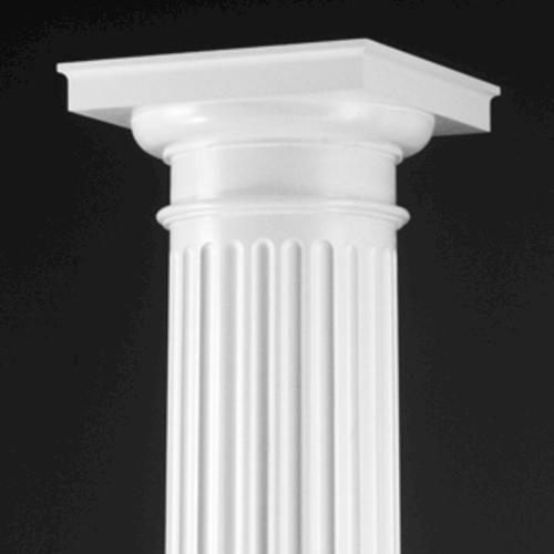 round pillar decoration.  Dixie Pacific DuraCast Fluted Round Fiberglass Column at Menards