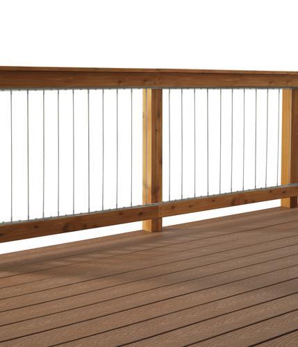 6 Wood Railing Kit For Round Aluminum Spindles At Menards