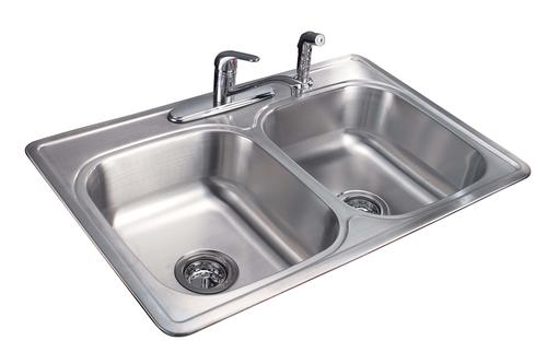 tuscany 7 double bowl stainless steel kitchen sink kit at menards. Interior Design Ideas. Home Design Ideas