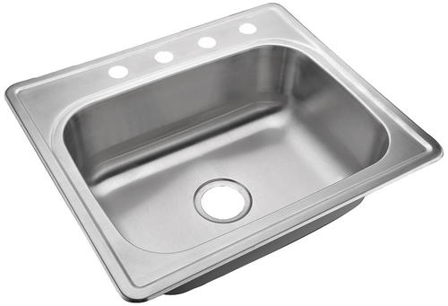 Tuscany Drop In 25 Stainless Steel 4 Hole Single Bowl Kitchen Sink At Menards