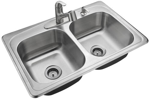 Tuscany Whitemore All In One Drop In 33 Stainless Steel 4 Hole Double Bowl Kitchen Sink At Menards