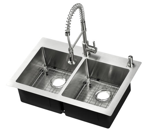 """Tuscany® Volk All-in-One Dual Mount 33"""" Stainless Steel"""