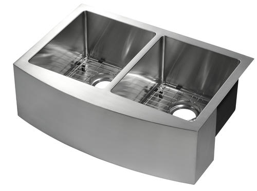 Tuscany Farmhouse Apron Front 30 Stainless Steel Double Bowl Kitchen Sink At Menards