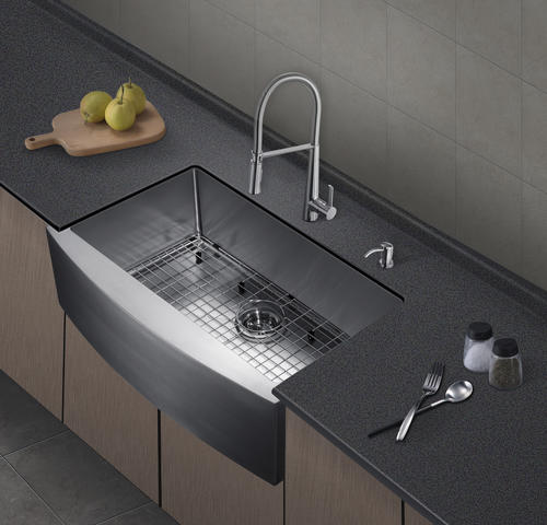 Tuscany Farmhouse Apron Sink 33 Stainless Steel Single Bowl Kitchen Sink At Menards