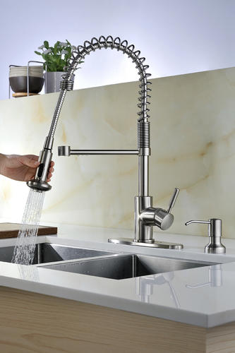 Tuscany Volk One Handle Pull Down Coil Kitchen Faucet At Menards