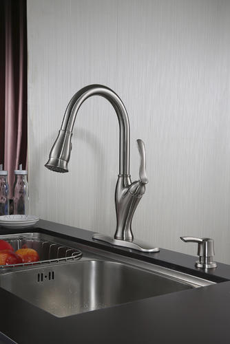 Tuscany® Jensen™ One-Handle Pull-Down Kitchen Faucet at Menards®