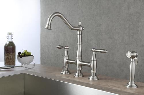Tuscany Jamesina Two Handle Bridge Kitchen Faucet At Menards