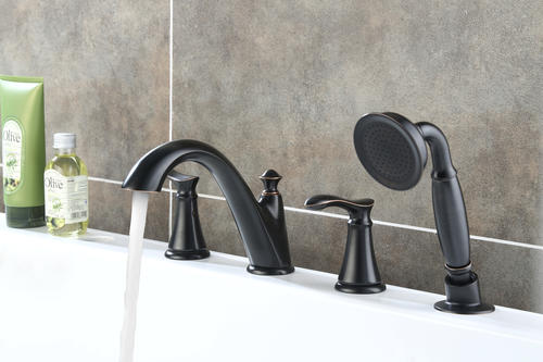 Single Spray Roman Tub Faucet With