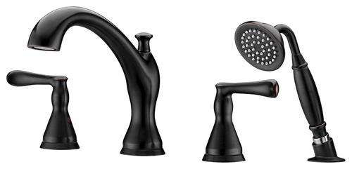 Tuscany  Jensen  Roman Tub with Handle Held Shower at Menards . Tuscany Roman Tub Faucet. Home Design Ideas