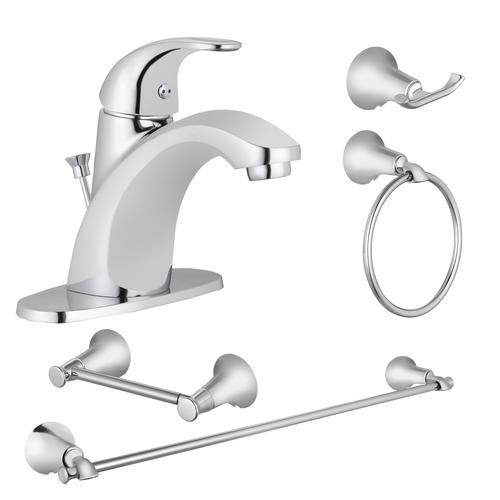 decorative bathroom hardware sets.htm tuscany   one handle 4  centerset bathroom faucet   4 piece  one handle 4  centerset bathroom faucet