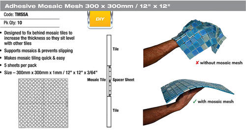 Dta Mosaic Backer Sheets 5 Pack