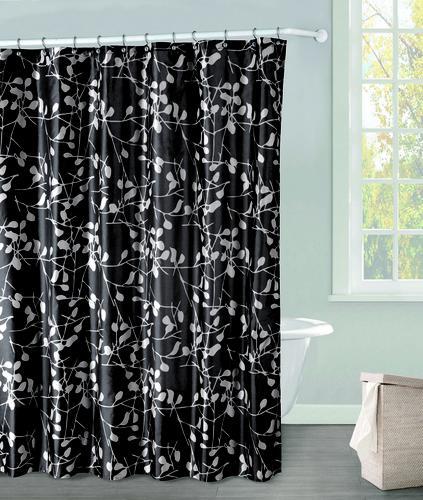 Duck River Carolina Black Polyester Shower Curtain Model Number CASBK12 13695