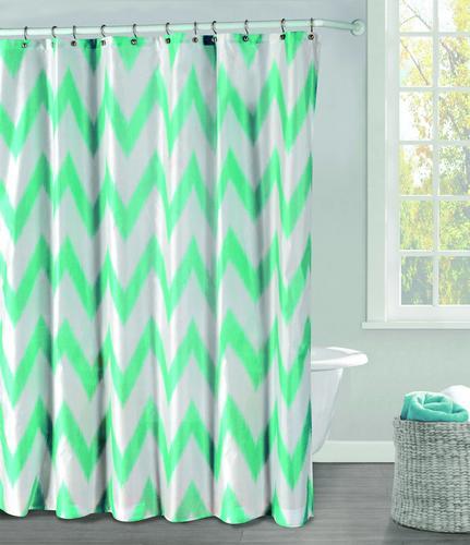 Light Teal Polyester Shower Curtain Model Number RHSTL12 2976