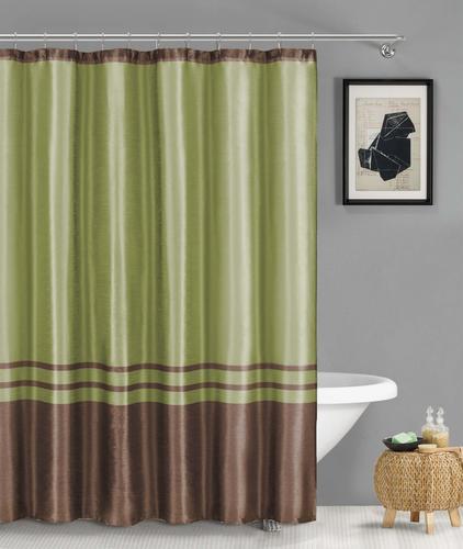 Duck River Sabrina Sage Polyester Shower Curtain Model Number SABRINA 2241