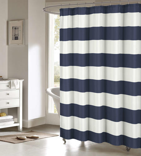 Duck River Toto Navy Polyester Shower Curtain Model Number TOSNV12 13698