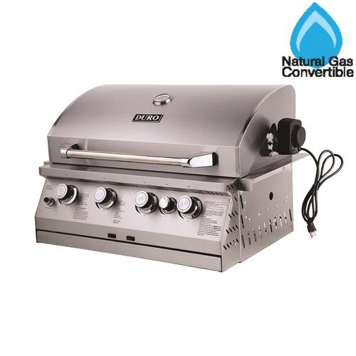 Duro® Drop-In 4-Burner Gas Grill with Rotisserie Burner at