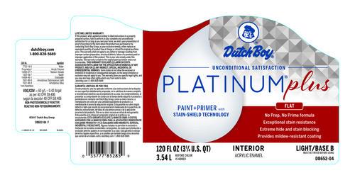 Dutch Boy® Platinum® Plus Interior 100% Acrylic Flat Western Green