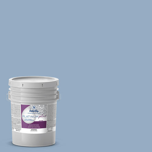 platinum plus interior acrylic paint primer blue color family 5 gal at menards menards