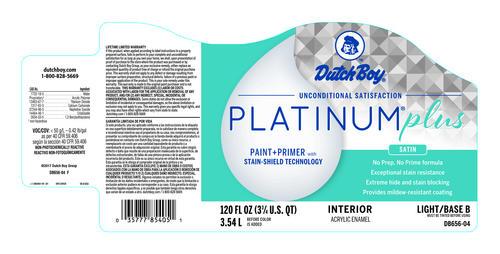 Dutch Boy® Platinum® Plus Interior 100% Acrylic Satin Lovely April