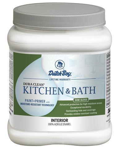 Dutch Boy® Dura Clean® Kitchen u0026 Bath Interior Acrylic Paint + Primer Ultra White  sc 1 st  Menards & Dutch Boy® Dura Clean® Kitchen u0026 Bath Interior Acrylic Paint + ...