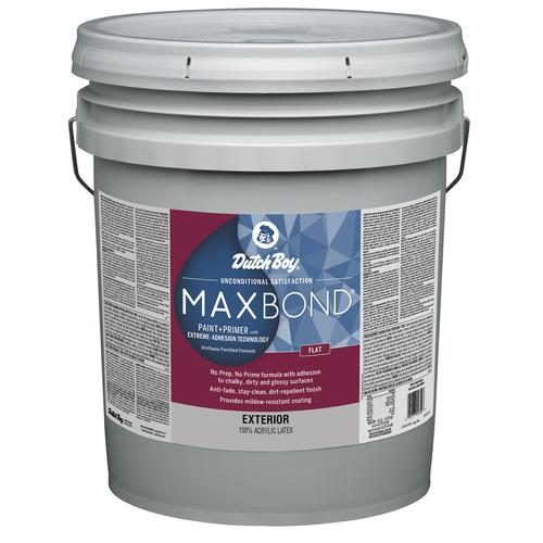 Paint And Primer >> Dutch Boy Maxbond White Exterior Latex Paint 5 Gal At Menards