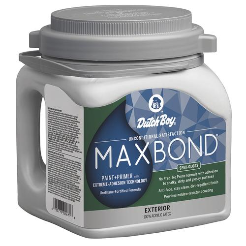 Dutch Boy® MAXBOND® Exterior Semi-Gloss 100% Acrylic Paint + Primer with Extreme-Adhesion Technology Deep Base C - 1 gal.