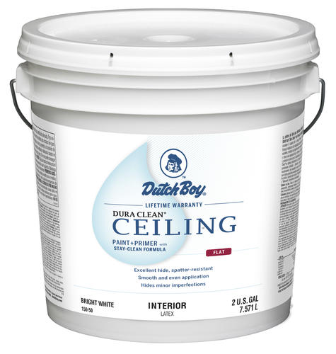 Dutch Boy® Dura Clean® Ceiling Interior Latex Paint + Primer With  Stay Clean Formula Bright White   2 Gal. At Menards®