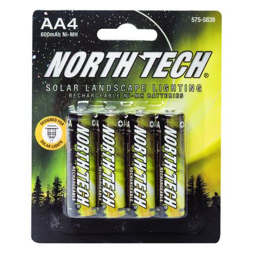 North Tech Aa Solar Light Batteries 4 Pack
