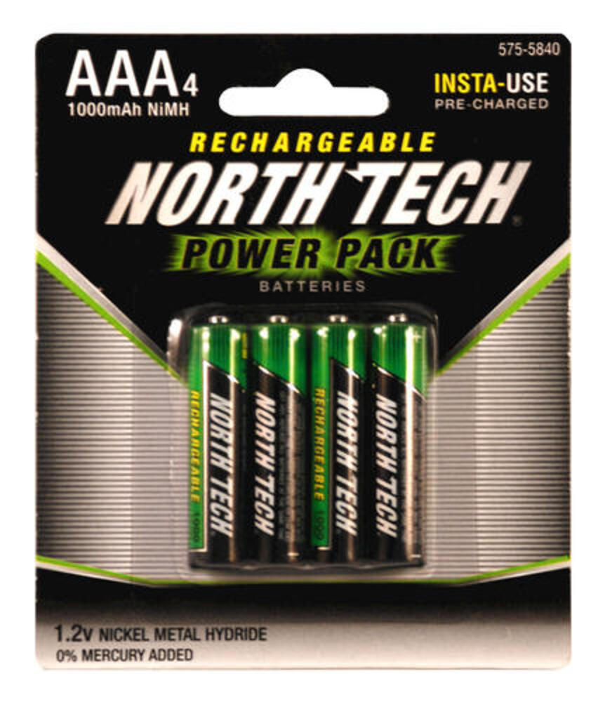 North Tech Rechargeable Batteries 4 Pack At Menards