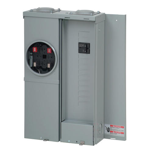 12 to 24 Circuits Eaton Mbe1224B100Bts Br Outdoor Main Breaker Meter and Panel House Combo 100 Amp