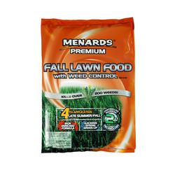 Menards Premium Fall Lawn Food With Weed Control Fertilizer At