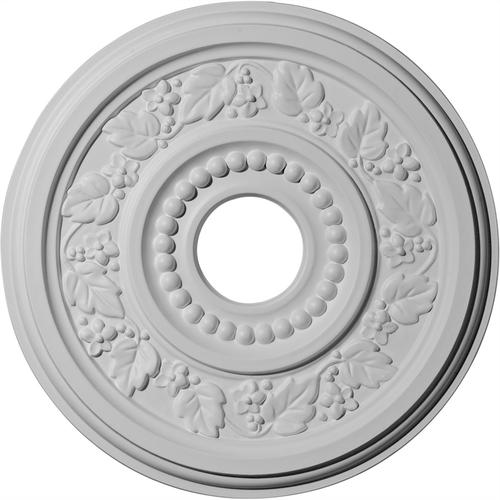 "Ekena Genevieve 16 1 8"" OD Primed Urethane Ceiling Medallion with 3"