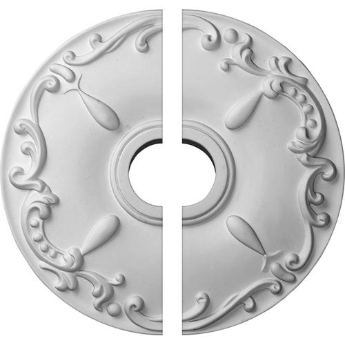 Two Piece Two Piece Ekena Millwork CM18KE2 18OD x 3 1//2ID x 1 1//4P Kent Ceiling Medallion Fits Canopies up to 5 Fits Canopies up to 5