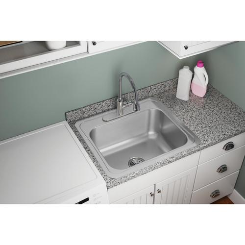 Elkay 25 W X 22 D Stainless Steel Drop In Laundry Laundry Utility Sink At Menards
